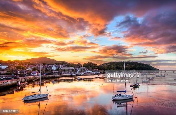 Sunset at Conwy Harbour, North Wales