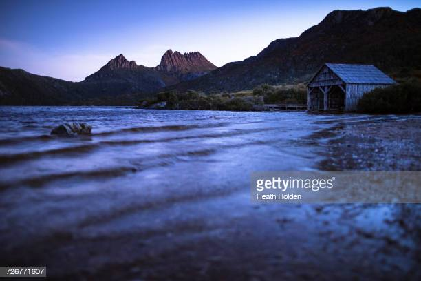 Sunset at Cradle Mountain and Dove Lake in Tasmania.