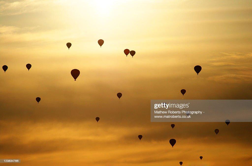Sunset at frys - Bristol balloon fiesta