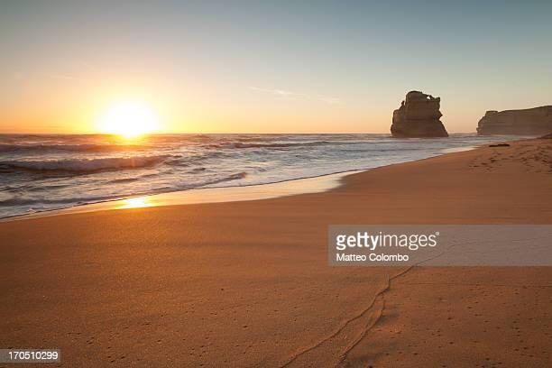 Sunset at gibson steps beach