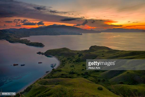 Sunset at Gili Lawa  -  Komodo National Park - Labuan Bajo in Flores Island- East Nusa Tenggara - Indonesia