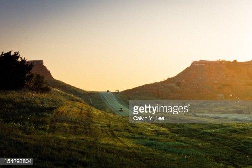 Sunset at Gloss mountains