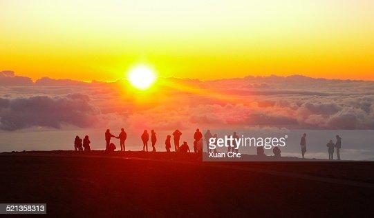 Sunset at Haleakala National Park