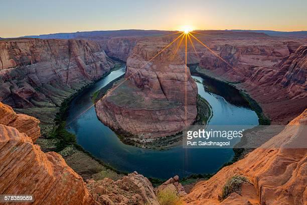 Sunset at horseshoe bend