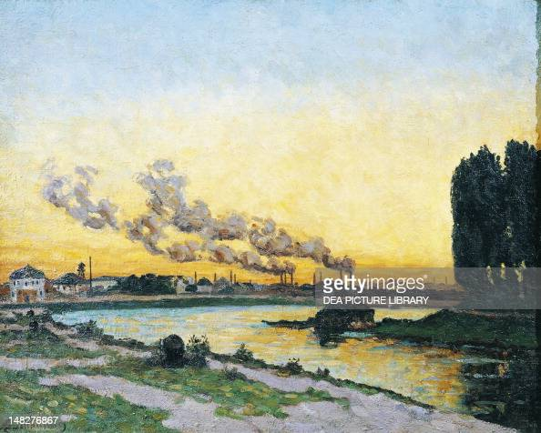 Sunset at Ivry ca 1873 by Armand Guillaumin oil on canvas 65x81 cm Paris Musée D'Orsay