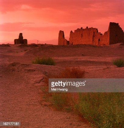 Sunset at Jiaohe Ruins Xinjiang China