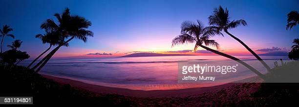 Sunset at Kaanapali Beach in Maui, Hawaii.