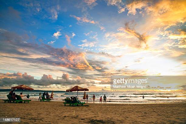 Sunset at Kuta Beach.