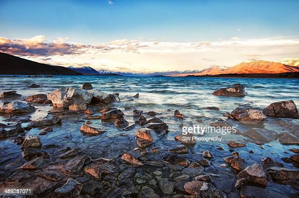 Sunset at Lake Tekapo