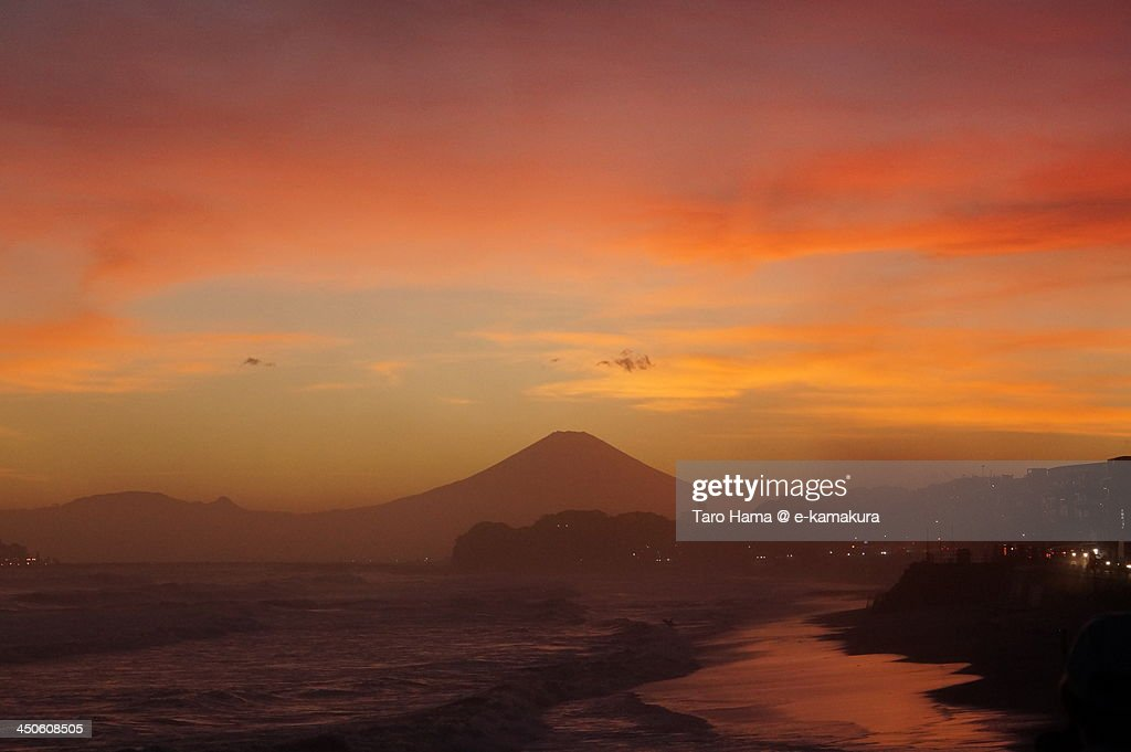 Sunset at Mt.Fuji : Stock Photo