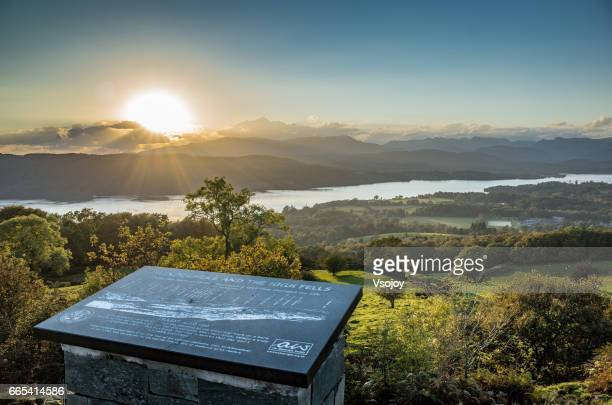 Sunset at Orrest Head, Windermere, Lake District, England