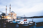 Sunset at Ortakoy Mosque in Istanbul
