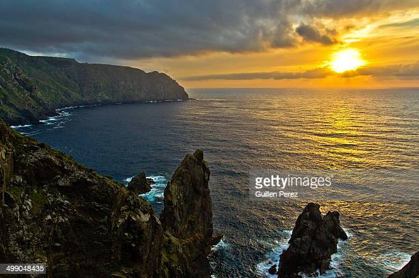 Sunset at Ortegal cape