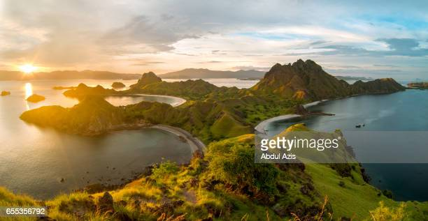 Sunset at Padar Island - The icon of Komodo National Park - Labuan Bajo in Flores Island- East Nusa Tenggara - Indonesia