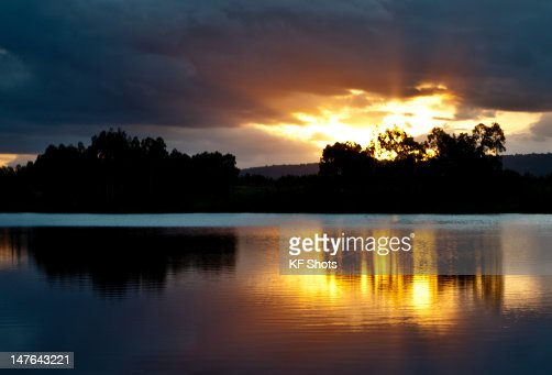 Sunset at Penrith lakes