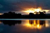 Sunset at Penrith lakes