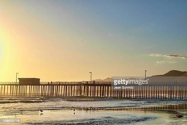 Sunset at pier in Santa Barbara