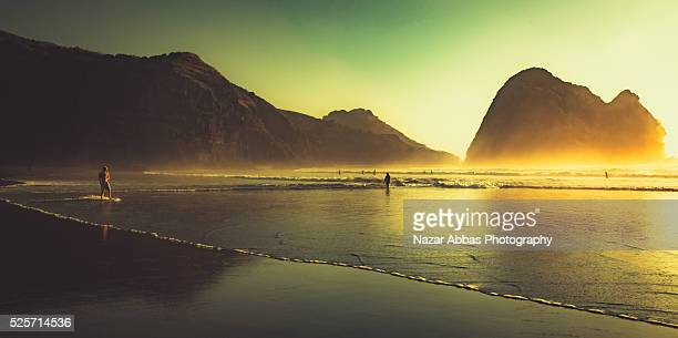 Sunset at Piha Beach.