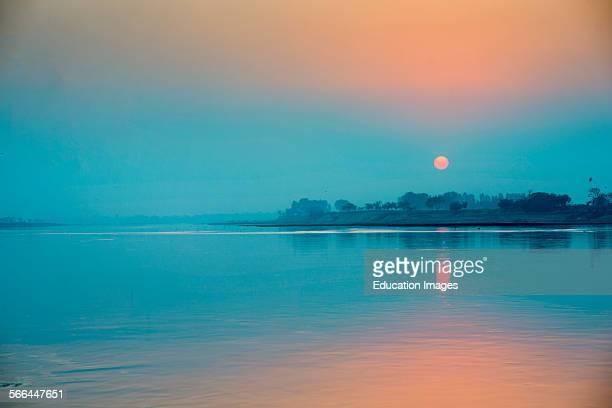 Sunset at Ravi River Lahore Pakistan Ravi Riven in Lahore Pakistan