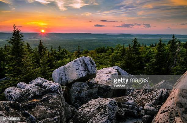 Sunset at Rocky Knob