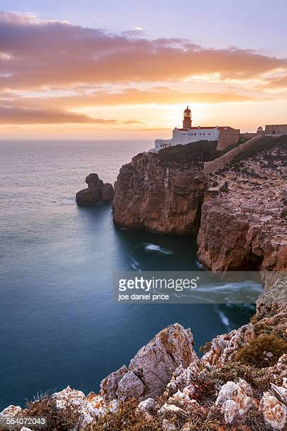 Sunset at Sagres Lighthouse, Algarve, Portugal