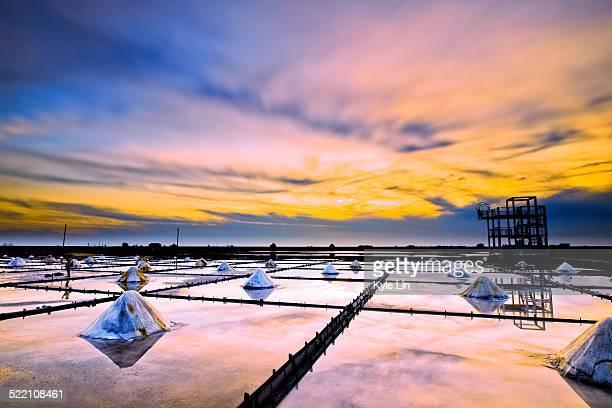 Sunset at Salt Field