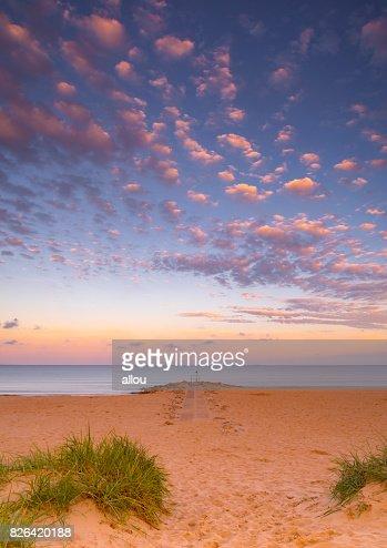 Sunset at Sandbanks in Dorset : Stock Photo