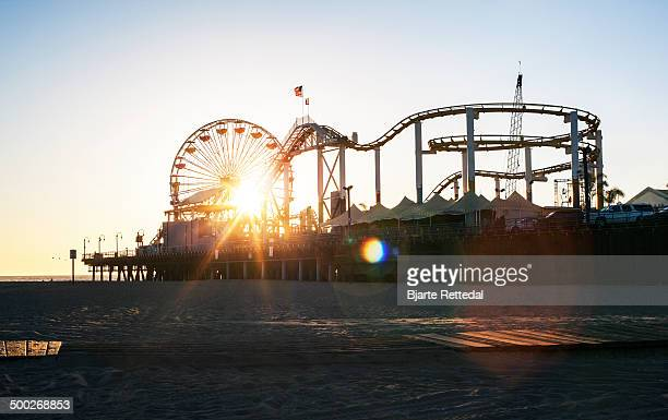 Sunset at Santa Monica Pier