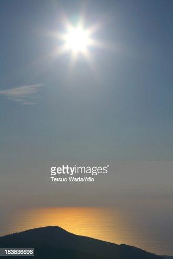 Sunset at Sea of ??Japan, Akita Prefecture