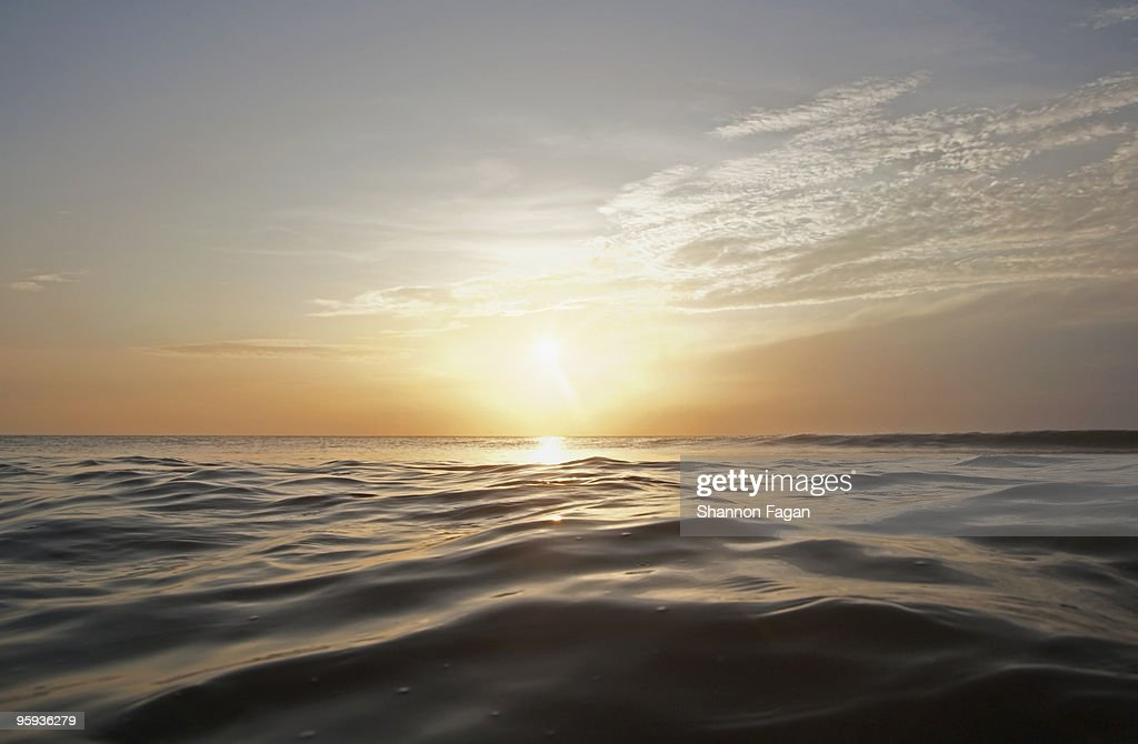 Sunset at Sea : Stock Photo