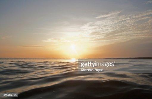 Sunset at Sea : Stock Photo