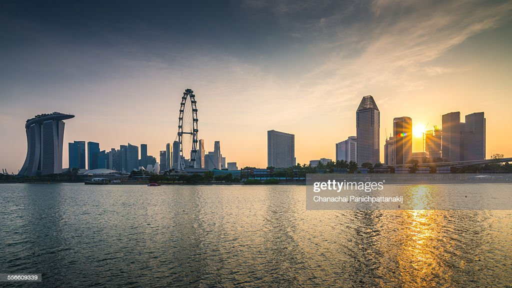 Sunset at Singapore