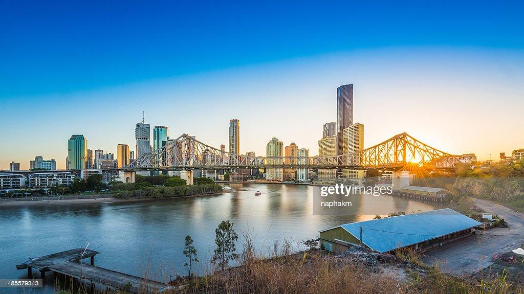 Sunset at Story Bridge, Brisbane