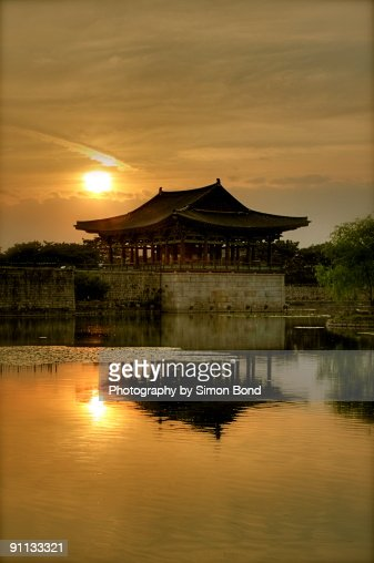 Sunset at the anapji Pond