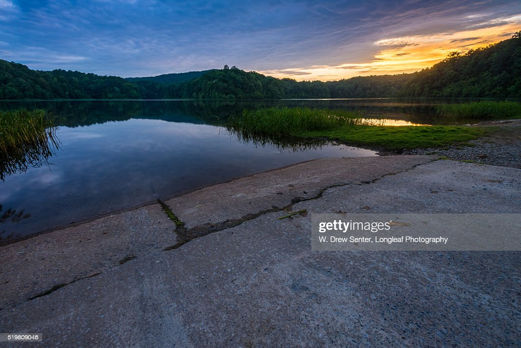 Sunset at the Boat Ramp : Stock Photo
