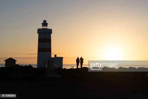 Sunset at the Gardur Lighthouse