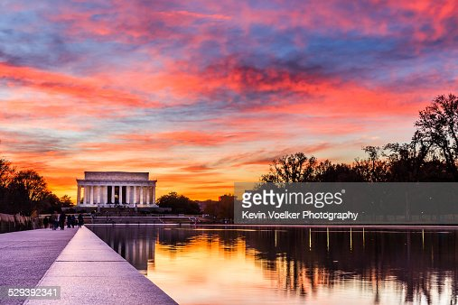 Sunset at the Lincoln Memorial