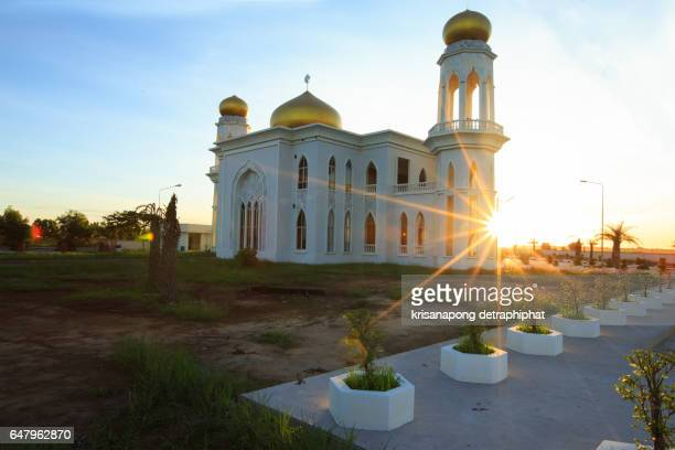 Sunset at the mosque,Thailand.
