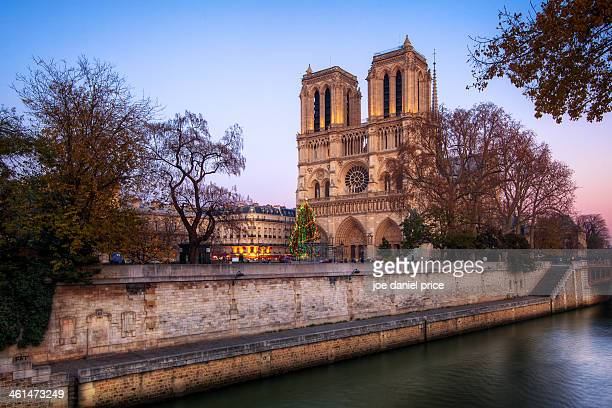 Sunset at the Notre Dame, Paris, France