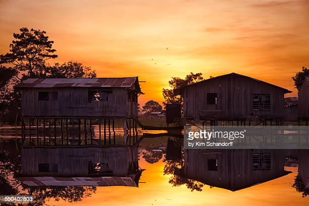 Sunset at the rainforest village