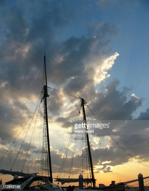 Sunset at the shrimp docks in historic Fernandina Beach on Amelia Island Florida