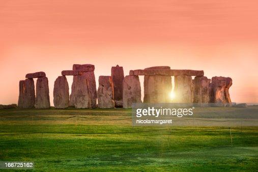 Sunset at the Stonehenge, United Kingdom