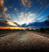Sunset at the traintracks