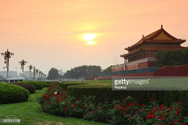 夕暮れの Tianan 男性を北京で