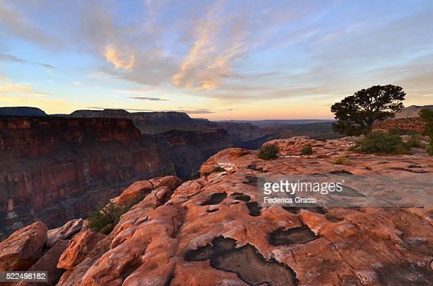 Sunset At Toroweap Point, North Rim Of The Grand Canyon, Arizona