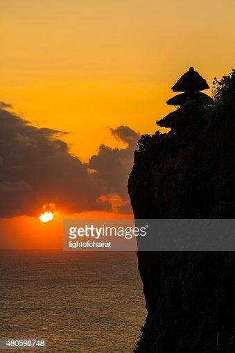 Sunset at Uluwatu Bali Indonesia : Stock Photo