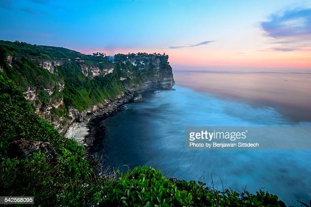 Sunset at Uluwatu temple, Bali, Indonesia
