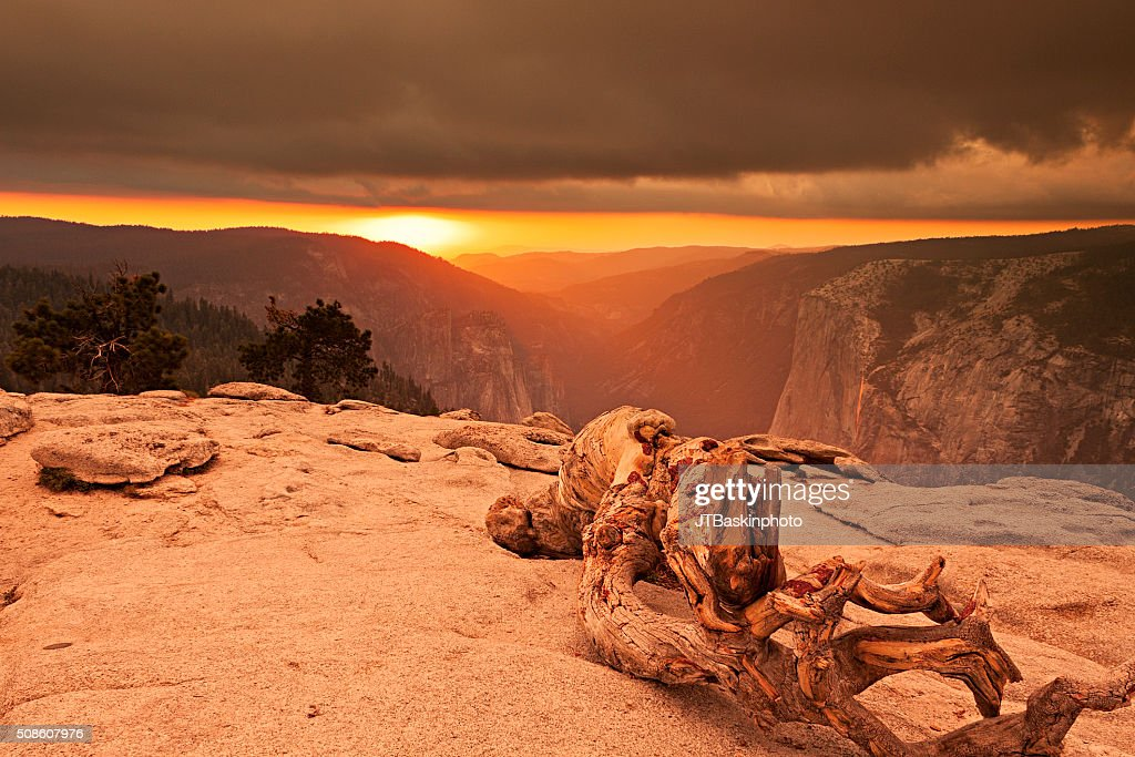 Sunset Atop Sentinel Dome : Stock Photo
