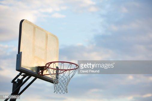 Sunset Basketball Hoop