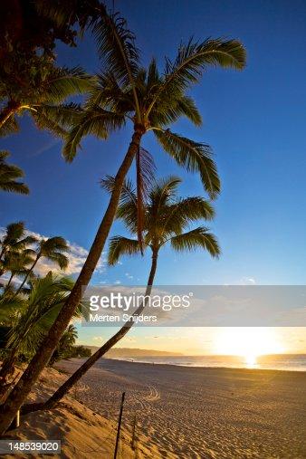 Sunset Beach at sunset.